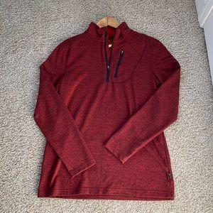 Swiss Tech Red Quarter Zip Pullover